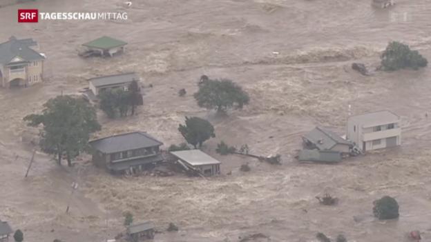 Video «Überschwemmungen in Japan» abspielen