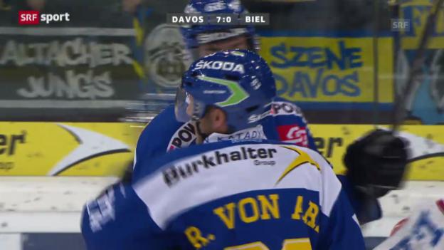 Video «Eishockey: NLA, Davos - Biel» abspielen