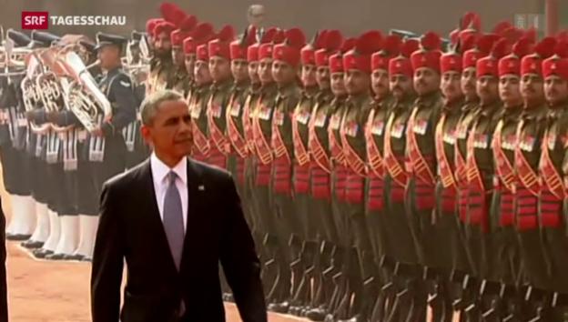 Video «Obama zu Besuch in Indien» abspielen