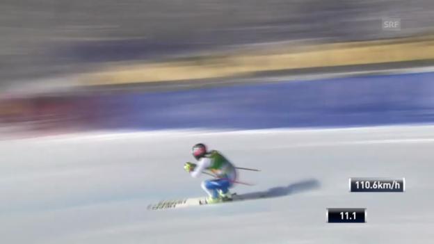 Video «Ski: Super-G Lake Louise, Fahrt von Feuz» abspielen