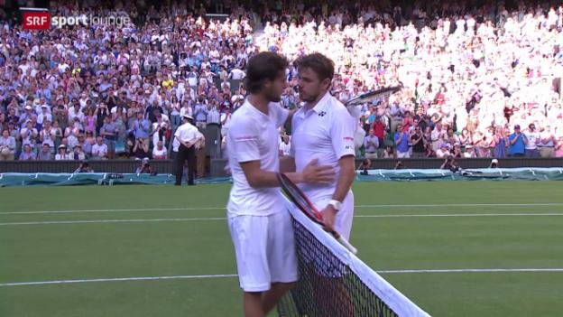 Video «Tennis: Wimbledon, Wawrinka - Sousa» abspielen