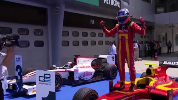 Video «Motorsport: Leimers 1. GP2-Sieg («sportaktuell»)» abspielen
