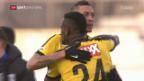 Video «Hoarau rettet YB den Sieg in Lausanne» abspielen