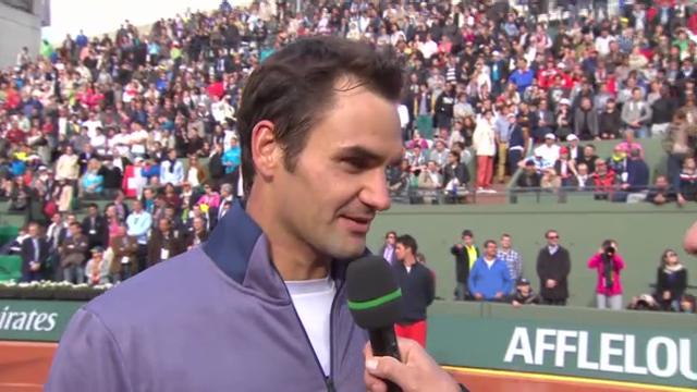 Platzinterview mit Federer