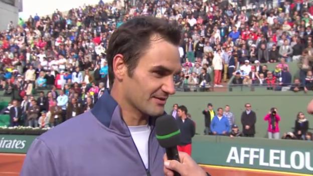 Video «Platzinterview mit Federer» abspielen