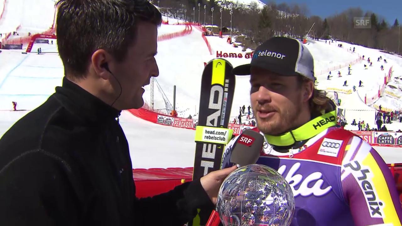 Ski: Super-G Männer in Méribel, Interview mit Jansrud