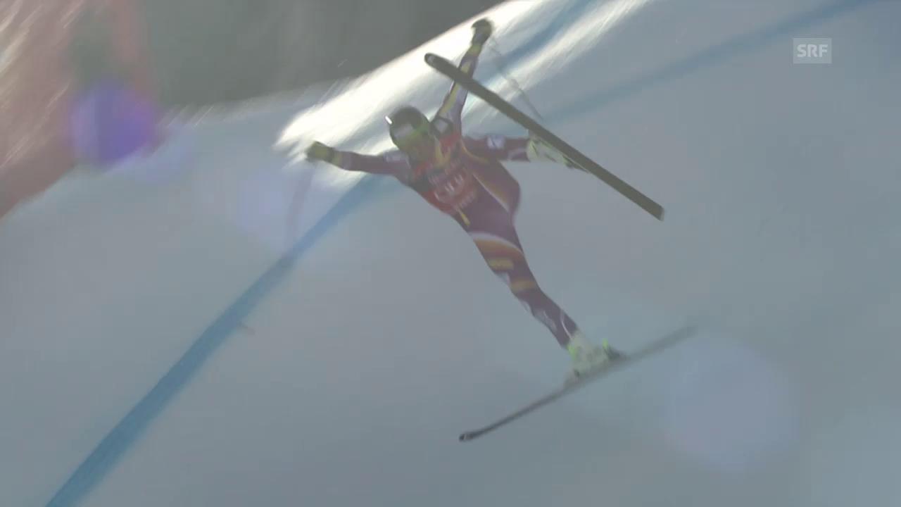 Ski alpin: Kitzbühel, Training, Jansruds Flugeinlage
