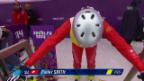 Video «Skicross: Frauen, Viertelfinal mit Fanny Smith (sotschi direkt, 21.2.2014)» abspielen