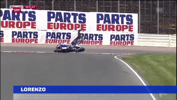 Video «Motorrad: Lorenzo schwer gestürzt» abspielen