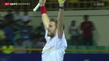 Video «Tennis: Wawrinka - Roger-Vasselin» abspielen