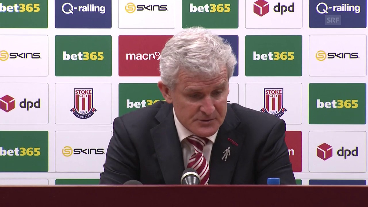 Stoke-Trainer Hughes: «Fantastischer Schuss» (engl., SNTV)
