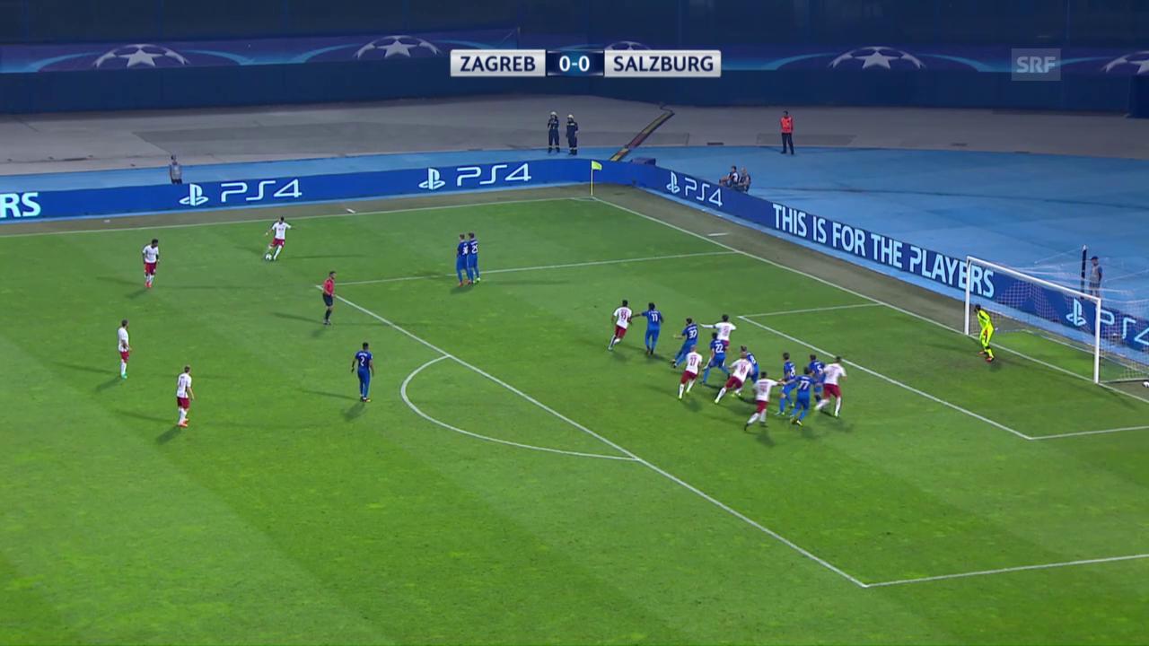 Salzburg gelingt Auswärtstor gegen Zagreb