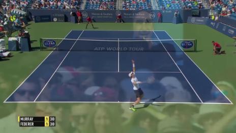 Video «Tennis: ATP Cincinnati, Federer-Murray, Punkt zum Breakball» abspielen