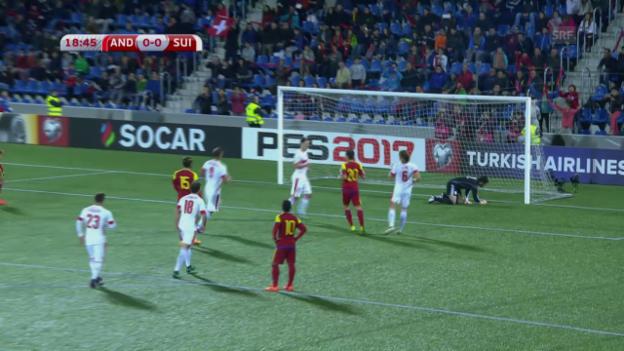 Video «Zusammenfassung Andorra - Schweiz» abspielen