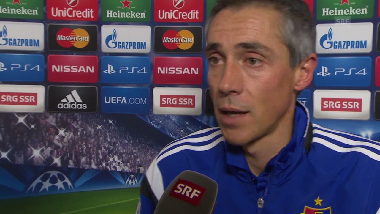 Fussball: Champions League, Interview mit Paulo Sousa