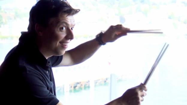 Video «Martin Grubinger: Der Lucky Luke unter den Schlagzeugern» abspielen