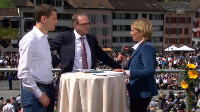 Fredo Landolt, Landratspräsident CVP/GL, und Hans-Peter Schaub, Politikwissenschaftler