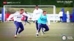 Video «Fussball: Shaqiris Ankunft in Mailand» abspielen