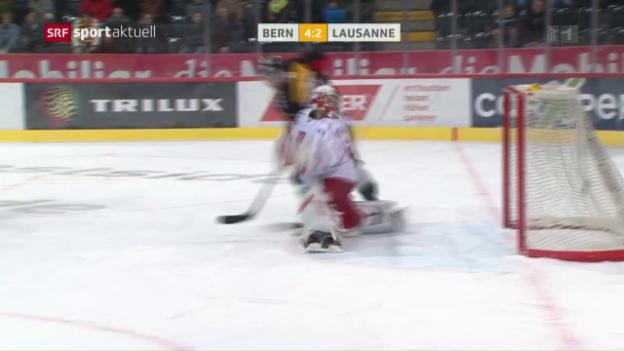 Video «Bern schiesst sich gegen Lausanne an die Tabellenspitze» abspielen