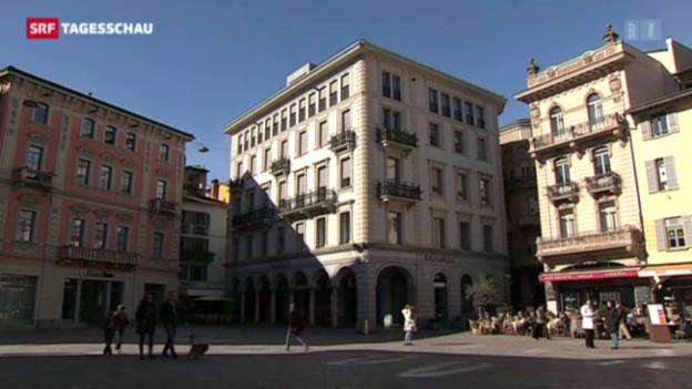 Video «Immer weniger Finanzarbeitsplätze im Tessin (18-Uhr-Tagesschau vom 18. Februar 1013)» abspielen