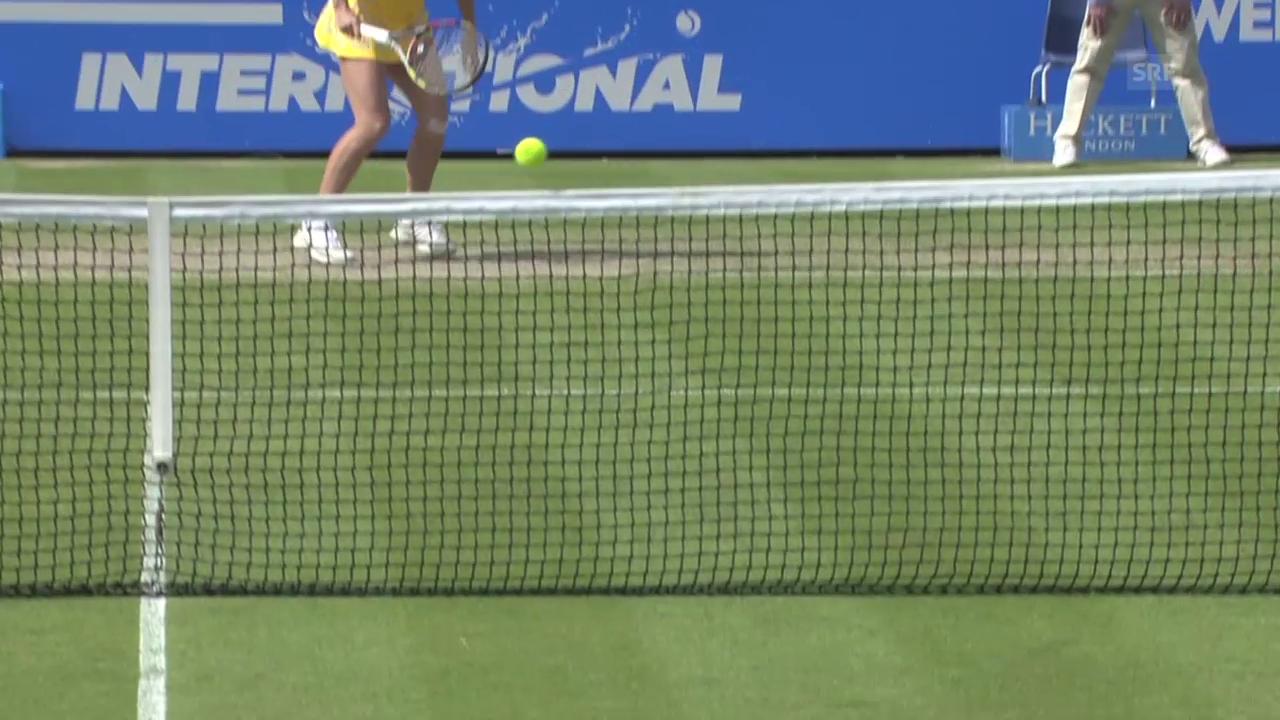 Tennis: WTA Eastbourne, Netzroller bei Wozniacki-Petkovic