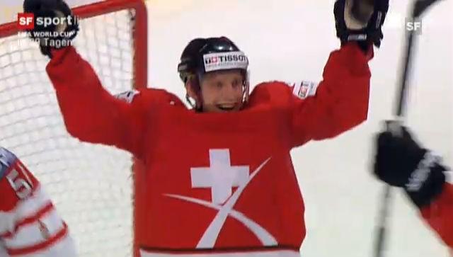 Schweiz - Kanada: Die Tore des Spiels