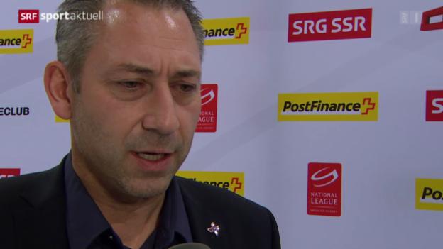 Video «Eishockey: NLA, Stimmen zum Match Bern - Kloten» abspielen