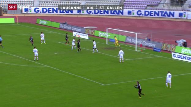 Video «Fussball: Lausanne - St. Gallen» abspielen