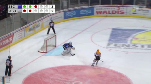 Video «Eishockey: Live-Highlights ZSC-Biel» abspielen