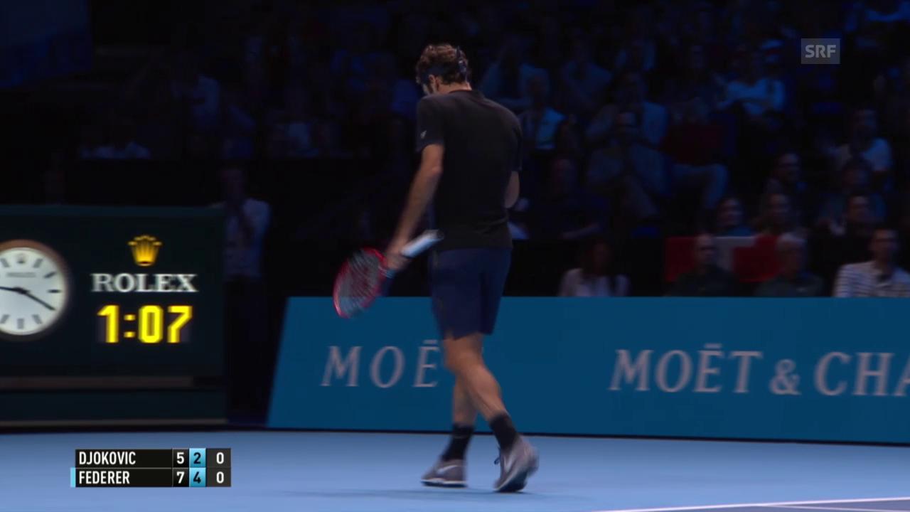 Tennis: ATP Final, Federer - Djokovic, Breakball 4:2
