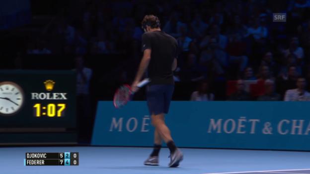 Video «Tennis: ATP Final, Federer - Djokovic, Breakball 4:2» abspielen