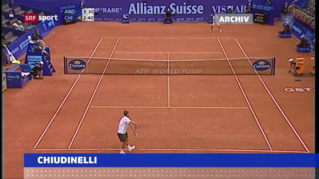 Video «Tennis: Chiudinelli mit Wildcard in Gstaad» abspielen