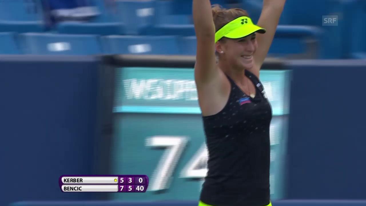 Tennis: Cincinnati, 1. Runde Bencic - Kerber