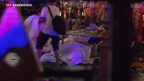Video «Explosion in Touristenviertel in Thailand» abspielen