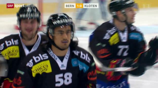 Video «Eishockey: NLA, SC Bern - Kloten Flyers» abspielen