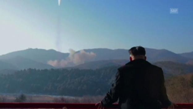 Video «Nordkoreas Propagandavideo zum Raketentest» abspielen