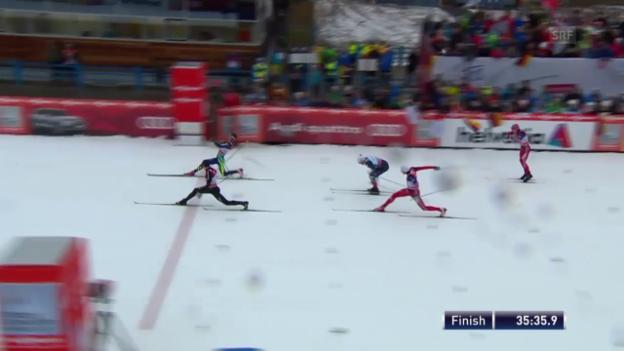 Video «So knapp verlor Cologna das 15-km-Rennen» abspielen