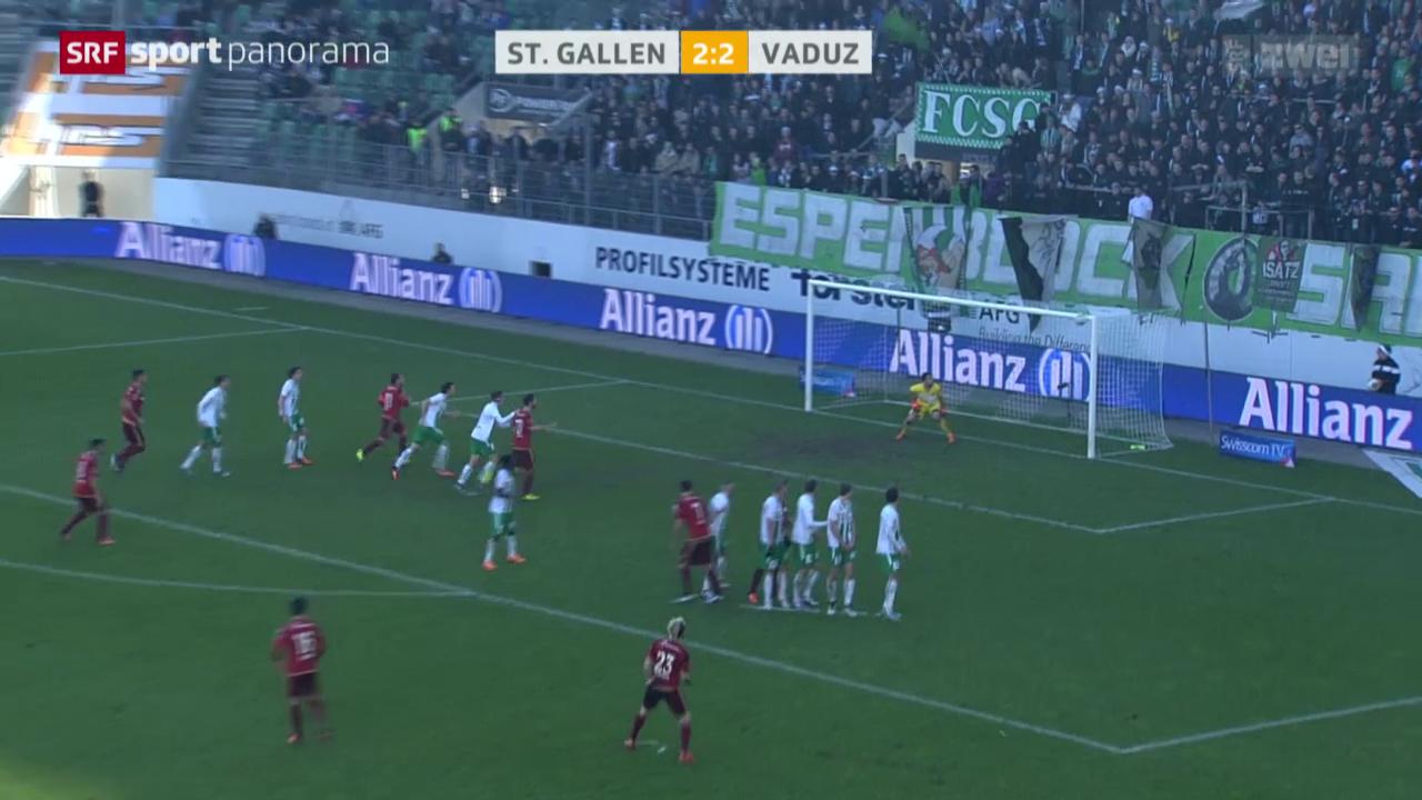 Fussball: Super League, St. Gallen - Vaduz