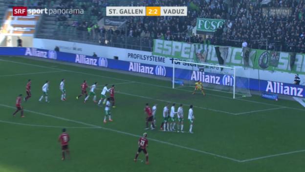 Video «Fussball: Super League, St. Gallen - Vaduz» abspielen