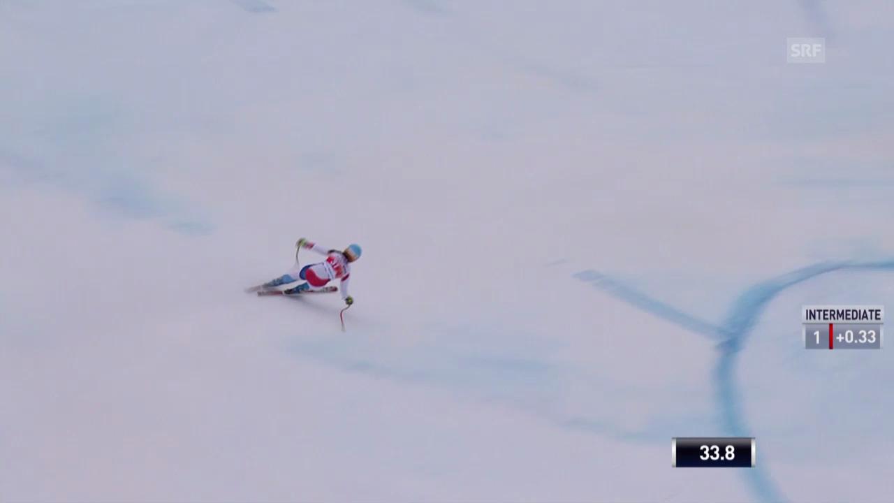 Ski: Weltcup, Abfahrt Crans-Montana, Fahrt von Hählen