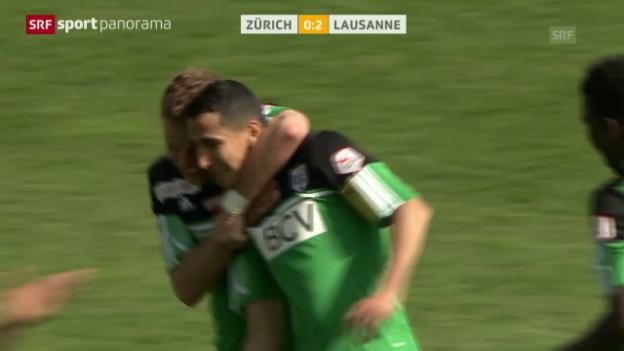 Video «Fussball: FC Zürich - Lausanne («sportpanorama»)» abspielen