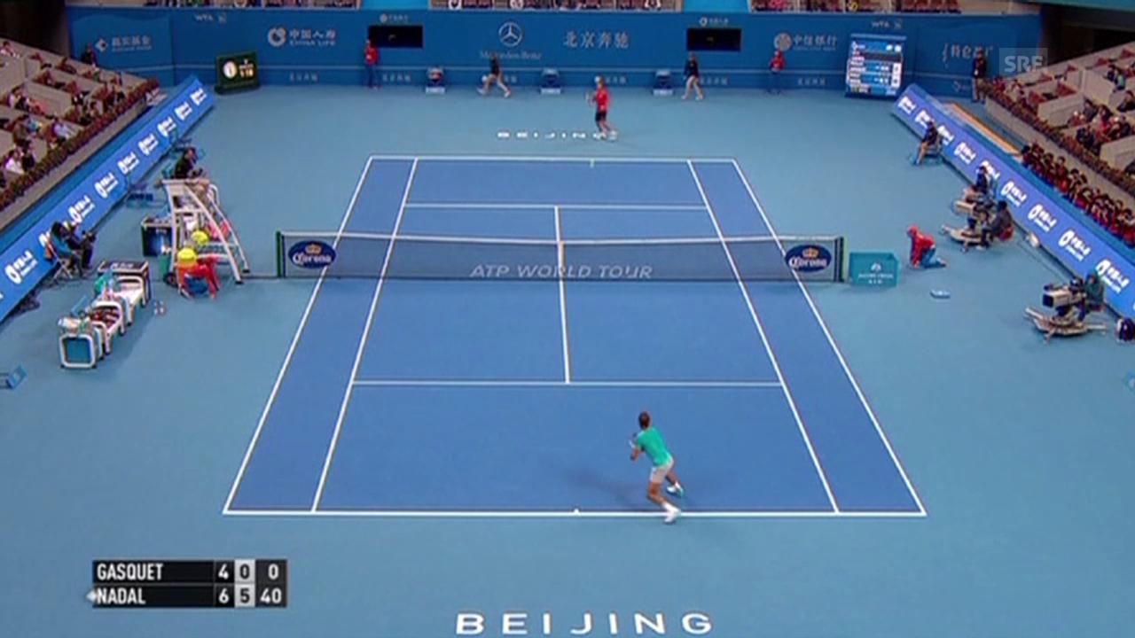 Tennis: ATP 500 Peking, 1. Runde, Nadal - Gasquet
