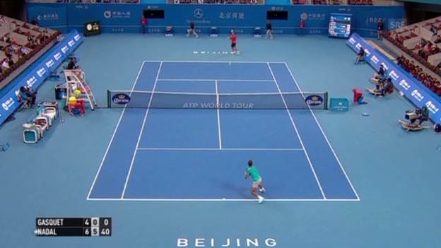Video «Tennis: ATP 500 Peking, 1. Runde, Nadal - Gasquet» abspielen