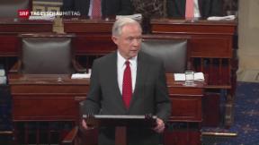Video «Tumult bei Wahl des neuen US-Justizministers» abspielen