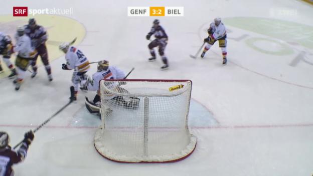 Video «Eishockey: NLA, Genf - Biel» abspielen