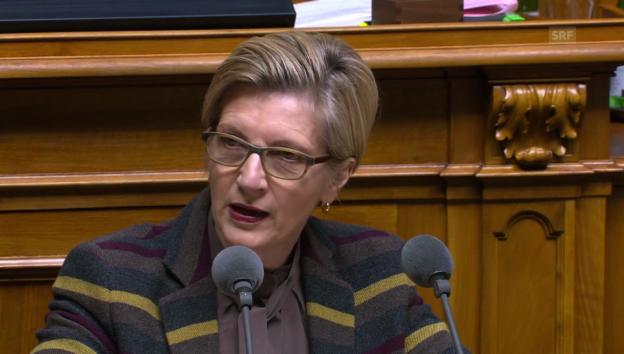 Video «Gabi Huber (FDP/UR) zum Lamento der SVP» abspielen
