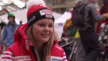 Video «Ski: Charlotte Chable vor dem Team-Event (französisch)» abspielen