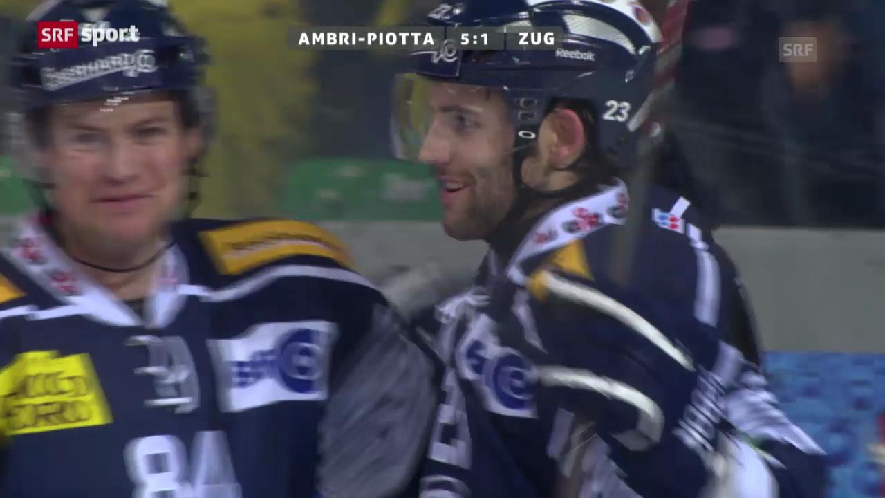 Eishockey: NLA, Lausanne Ambri