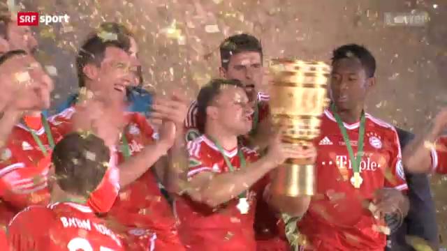 Bayern schlägt Stuttgart im Pokalfinal