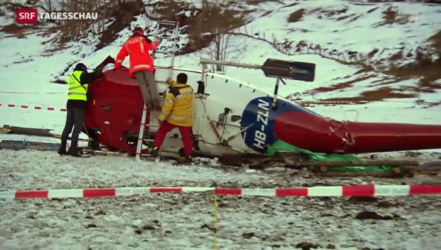 Video «Fünf Verletzte bei Helikopter-Absturz» abspielen